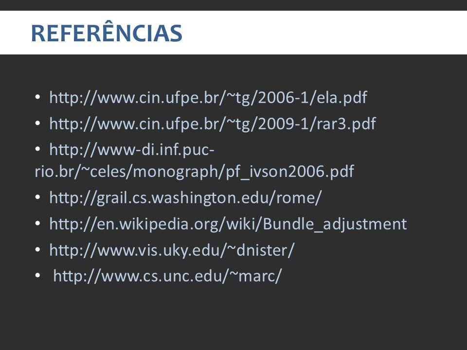 REFERÊNCIAS http://www.cin.ufpe.br/~tg/2006-1/ela.pdf