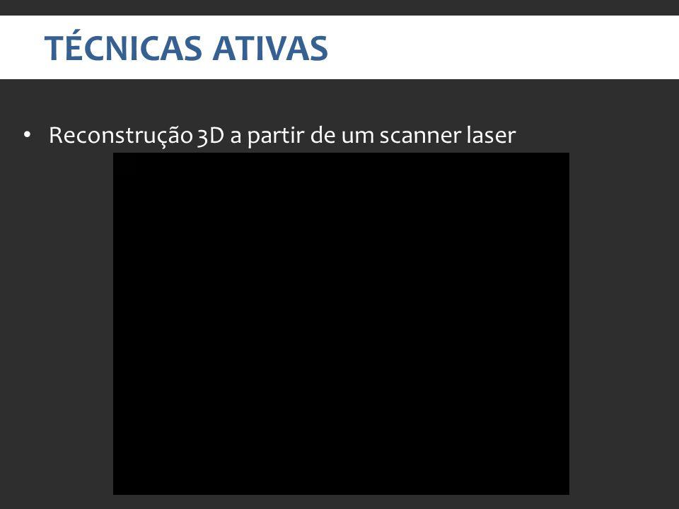 TÉCNICAS ATIVAS Reconstrução 3D a partir de um scanner laser