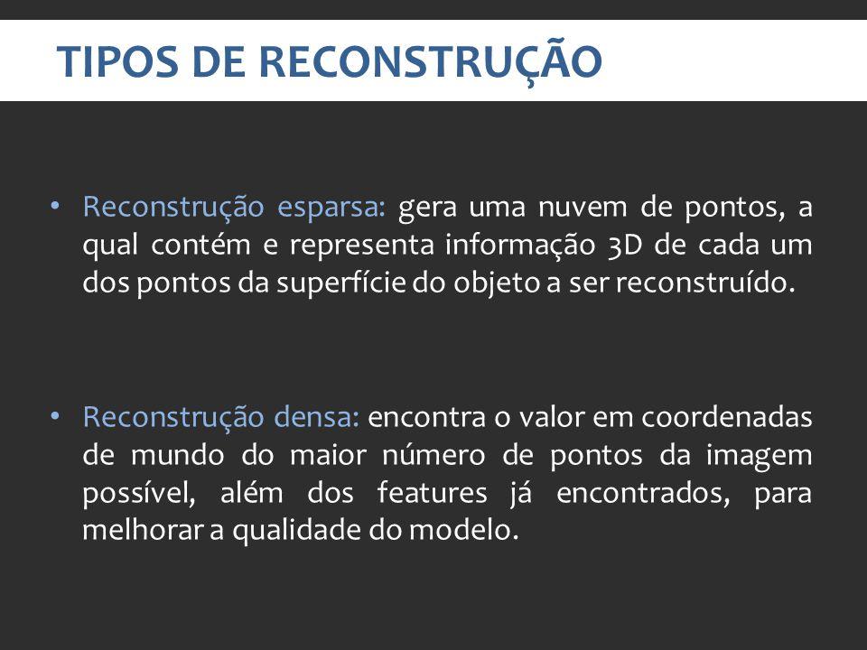 TIPOS DE RECONSTRUÇÃO