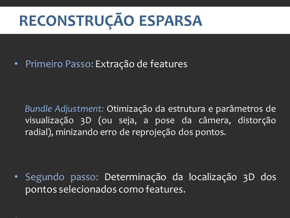 RECONSTRUÇÃO ESPARSA Primeiro Passo: Extração de features