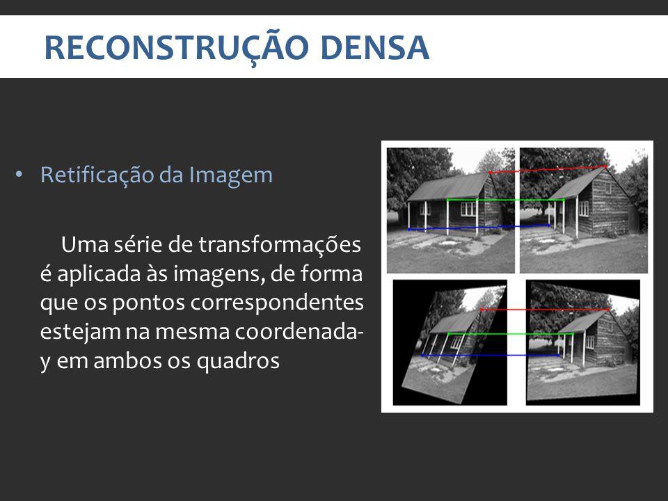 RECONSTRUÇÃO DENSA Retificação da Imagem
