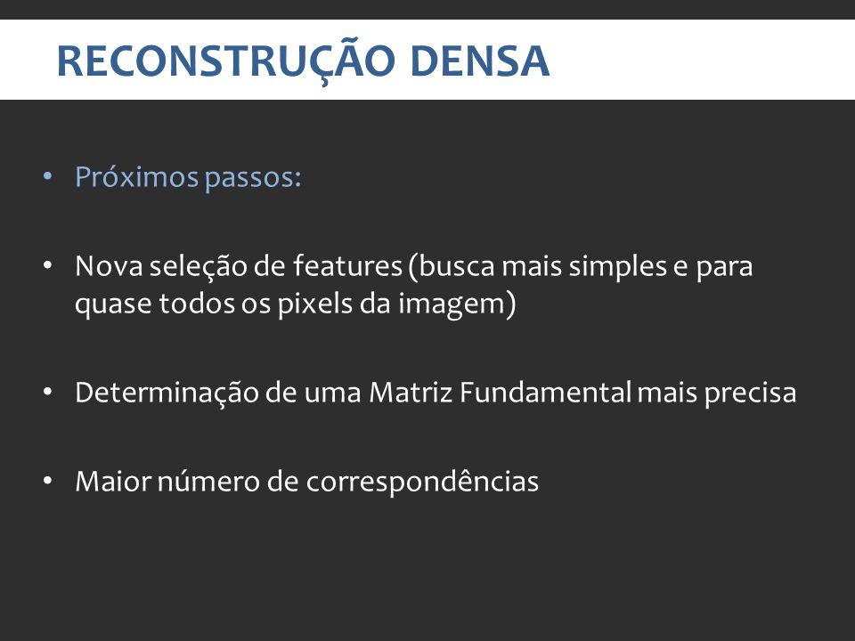 RECONSTRUÇÃO DENSA Próximos passos: