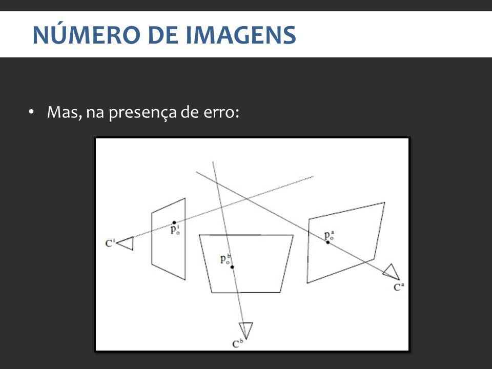 NÚMERO DE IMAGENS Mas, na presença de erro: