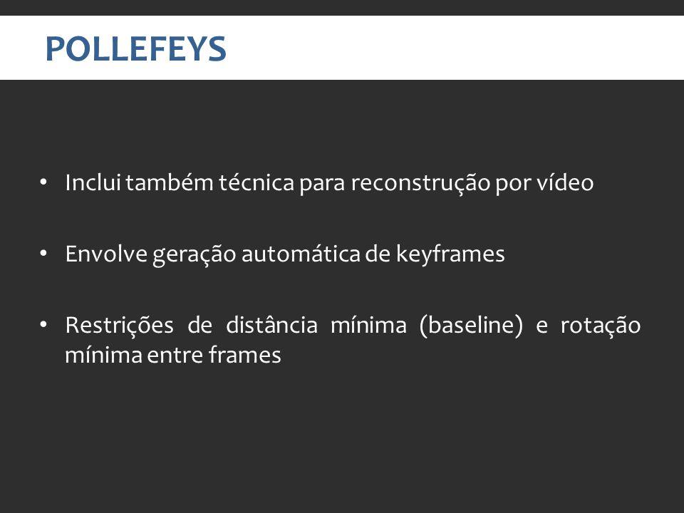 POLLEFEYS Inclui também técnica para reconstrução por vídeo
