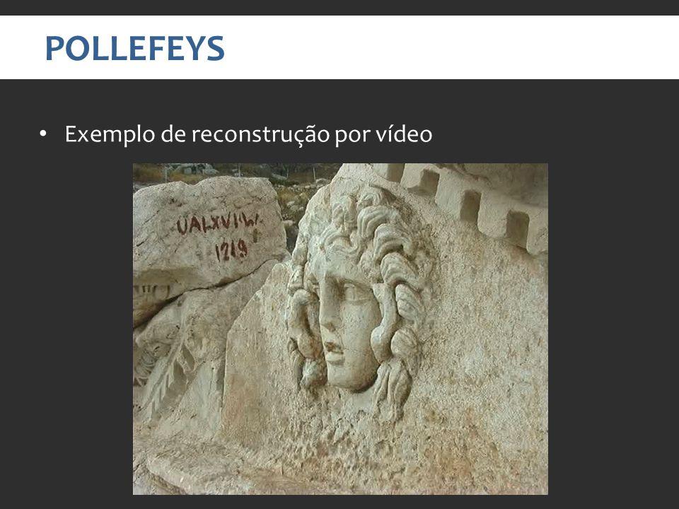 POLLEFEYS Exemplo de reconstrução por vídeo