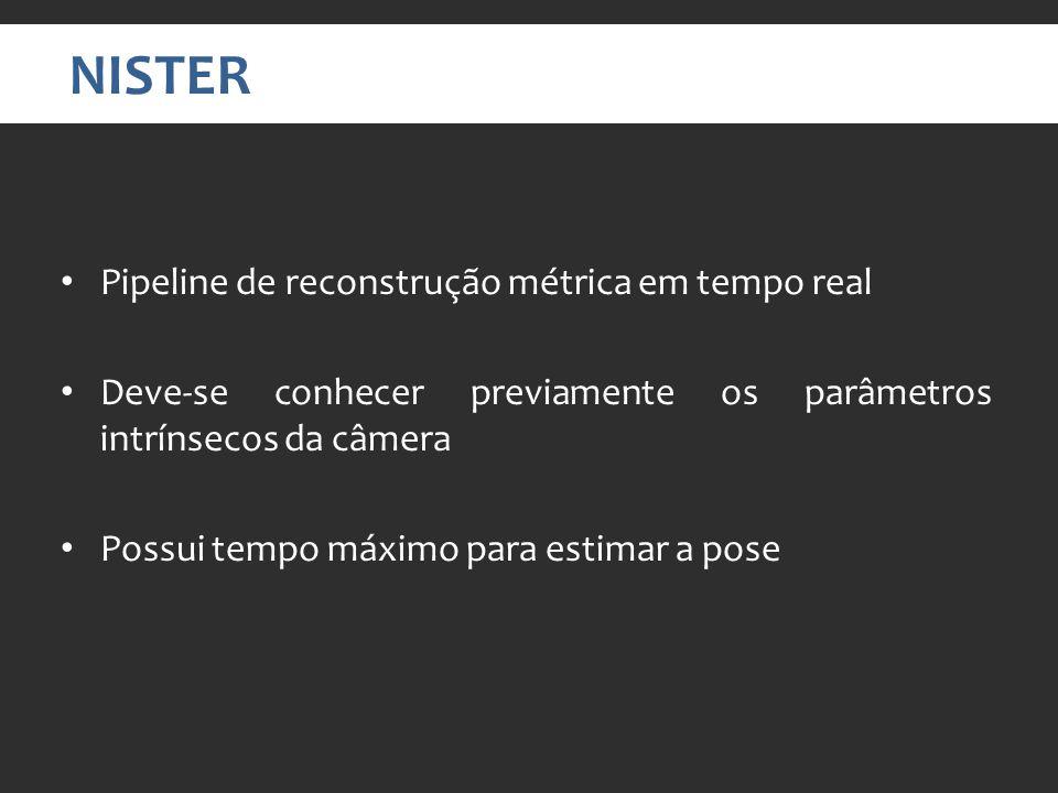 NISTER Pipeline de reconstrução métrica em tempo real