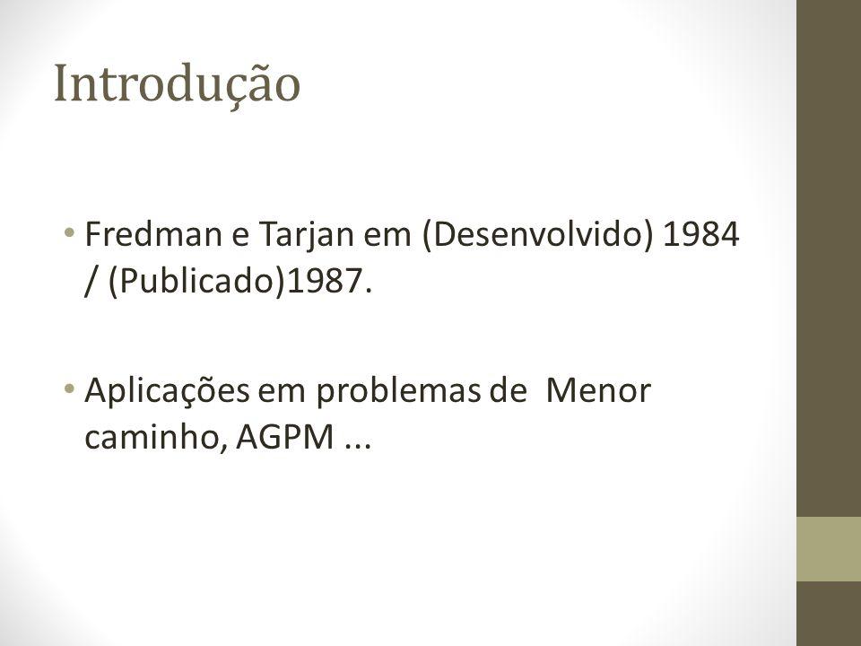 Introdução Fredman e Tarjan em (Desenvolvido) 1984 / (Publicado)1987.