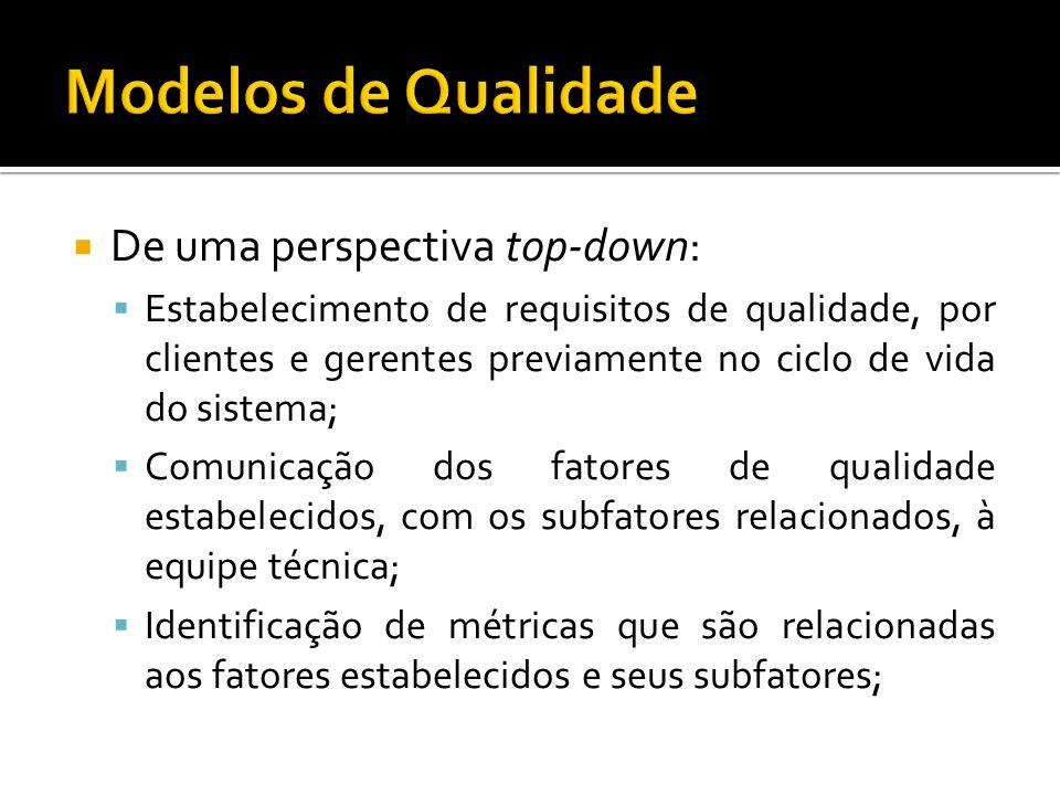 Modelos de Qualidade De uma perspectiva top-down: