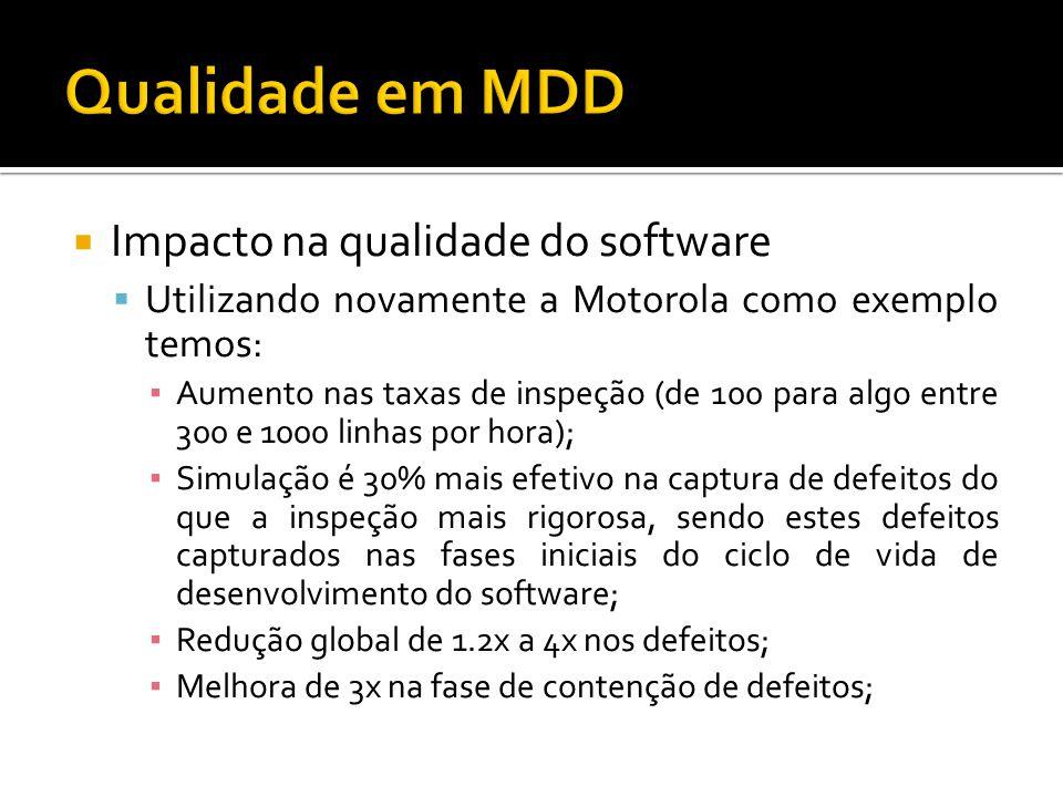 Qualidade em MDD Impacto na qualidade do software