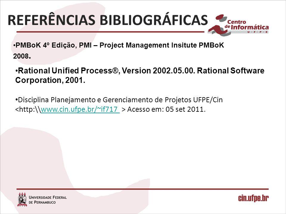 PMBoK 4º Edição, PMI – Project Management Insitute PMBoK 2008.