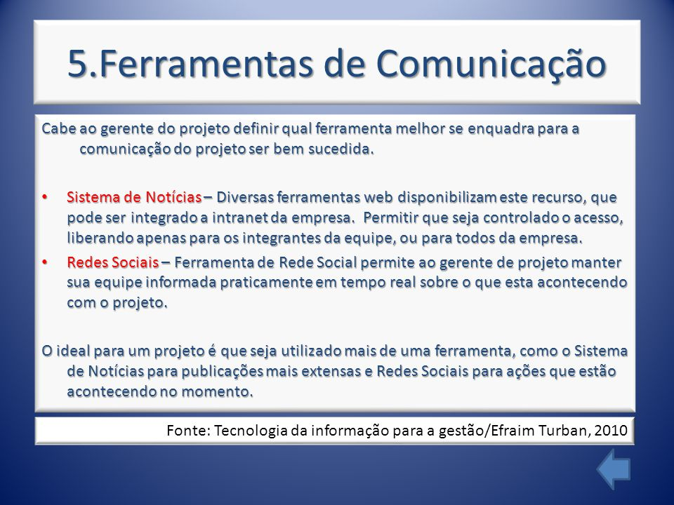 5.Ferramentas de Comunicação