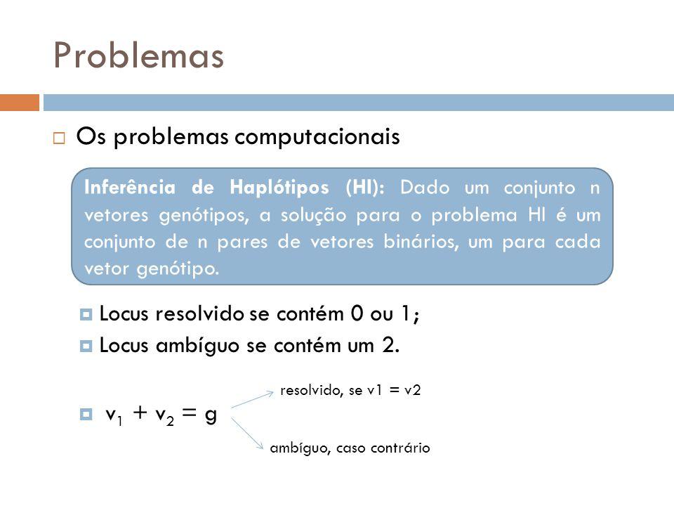 Problemas Os problemas computacionais