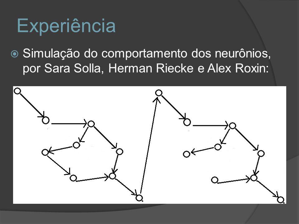 Experiência Simulação do comportamento dos neurônios, por Sara Solla, Herman Riecke e Alex Roxin: