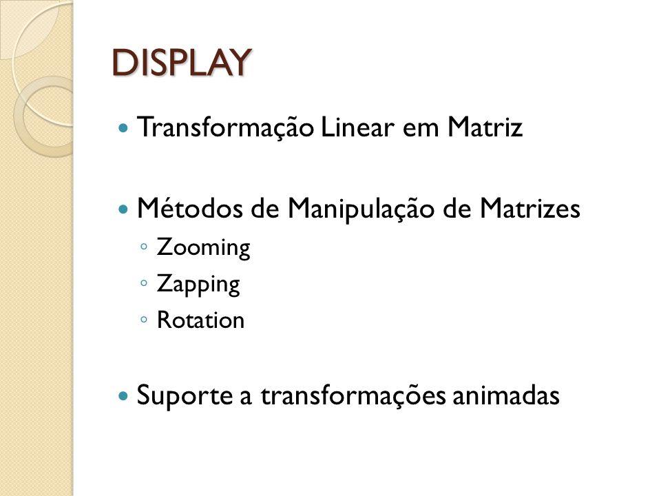 DISPLAY Transformação Linear em Matriz