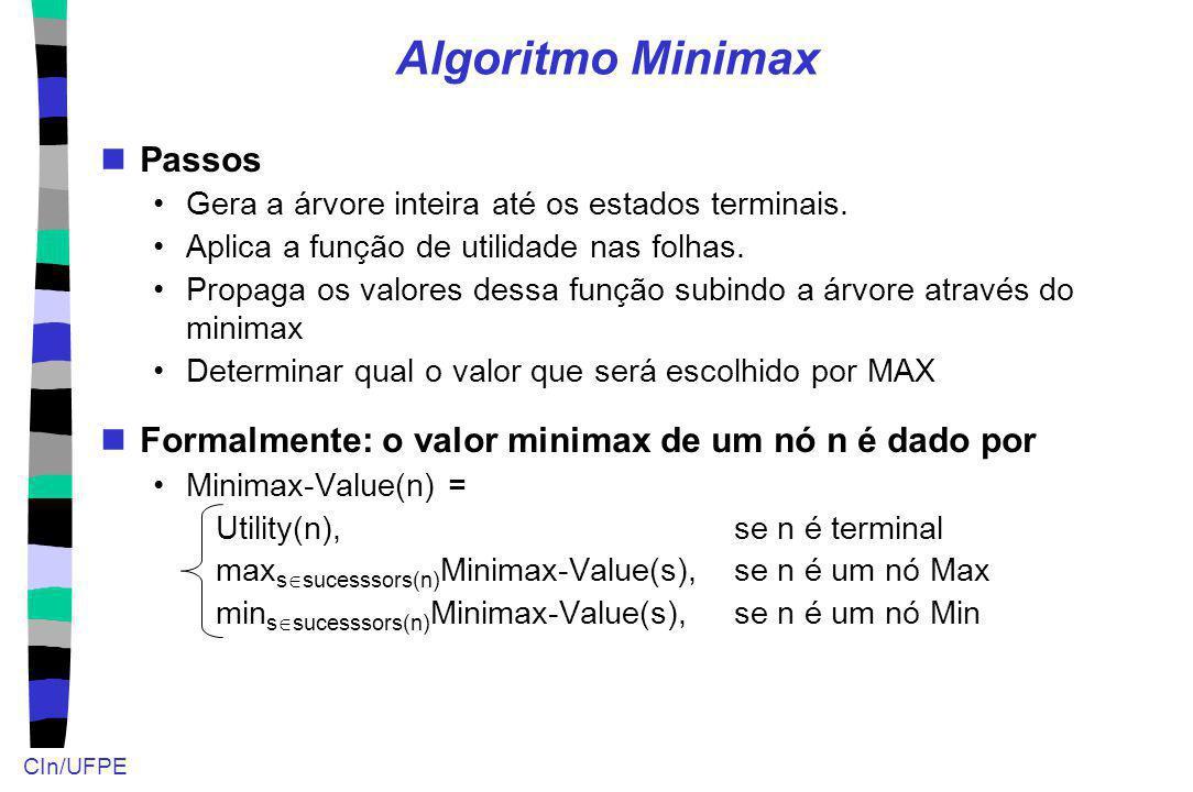 Algoritmo Minimax Passos