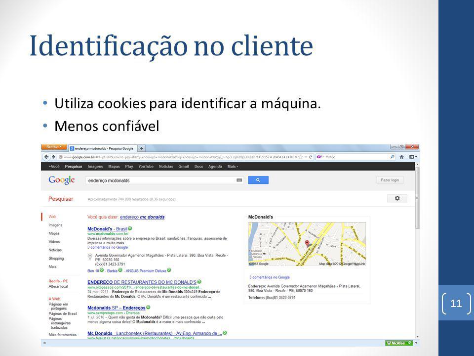 Identificação no cliente