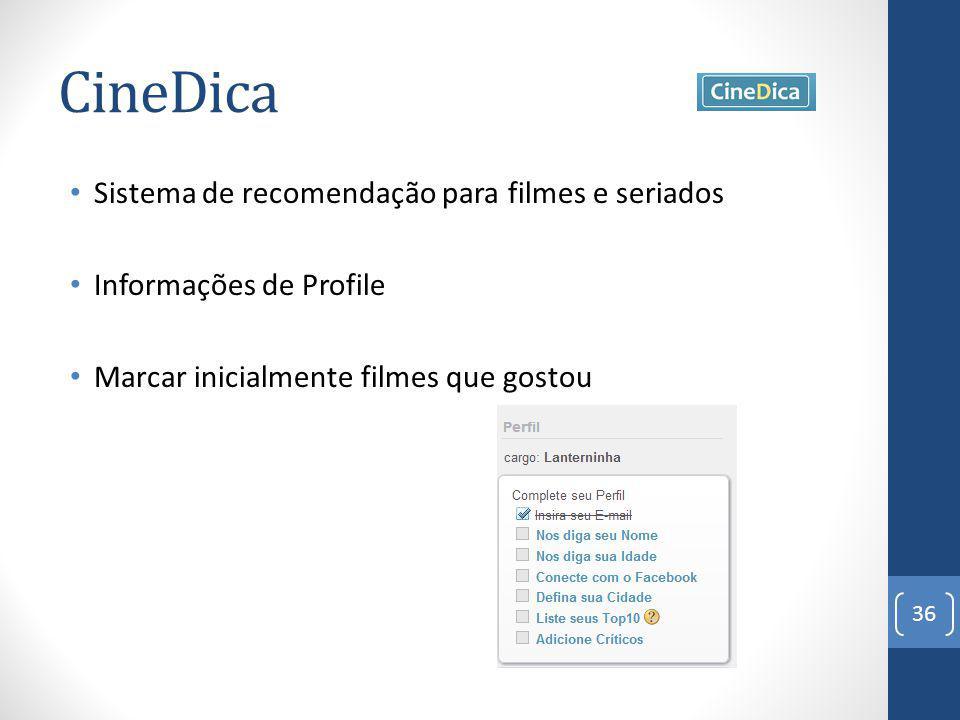 CineDica Sistema de recomendação para filmes e seriados