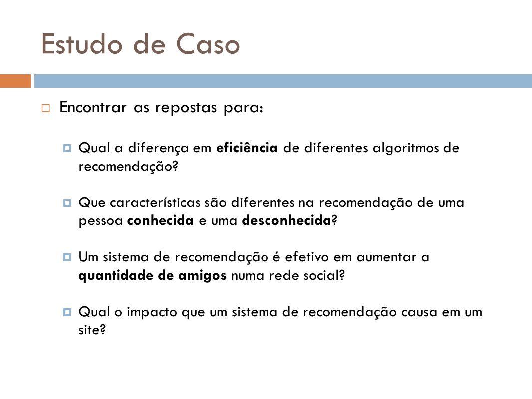 Estudo de Caso Encontrar as repostas para: