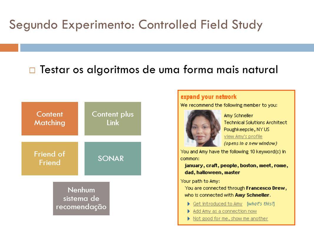 Segundo Experimento: Controlled Field Study
