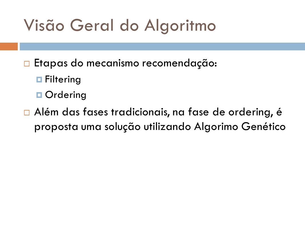 Visão Geral do Algoritmo