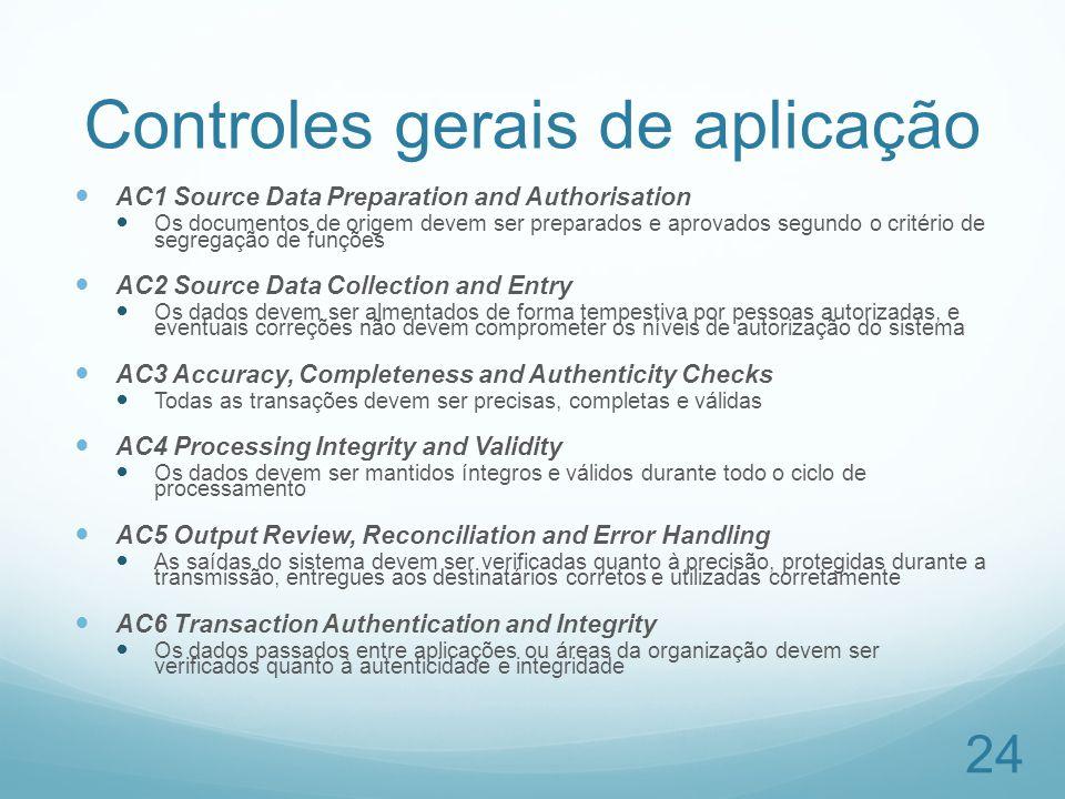 Controles gerais de aplicação
