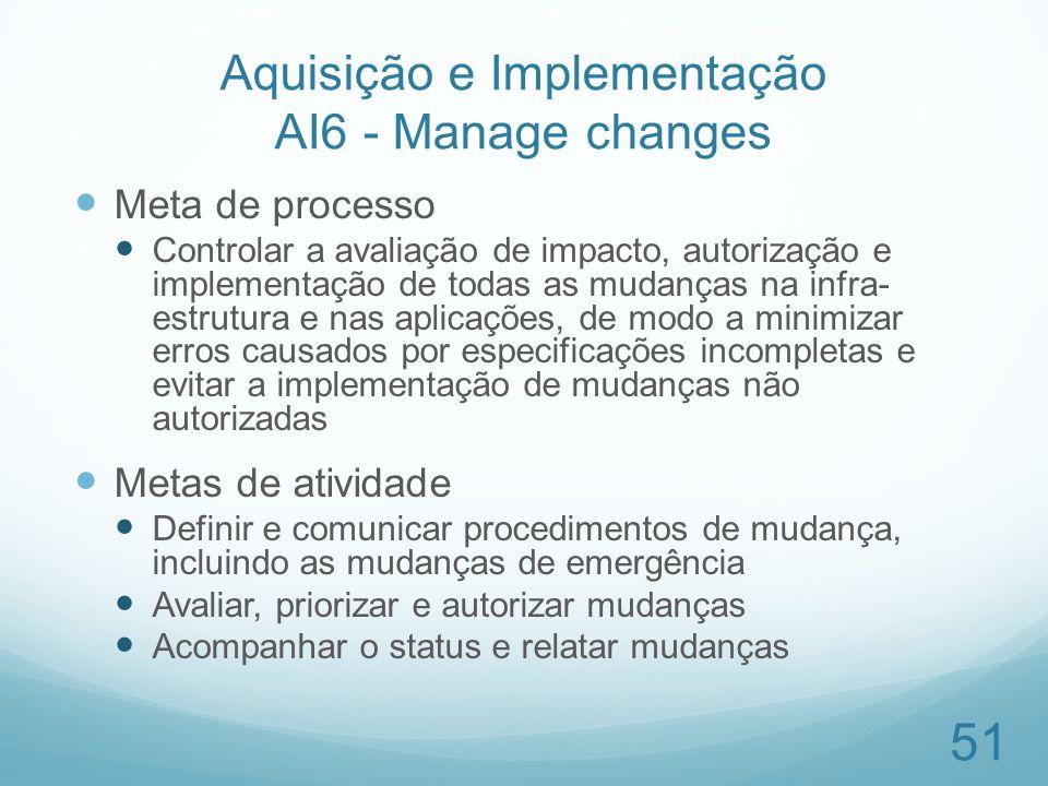 Aquisição e Implementação AI6 - Manage changes