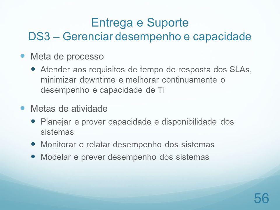 Entrega e Suporte DS3 – Gerenciar desempenho e capacidade