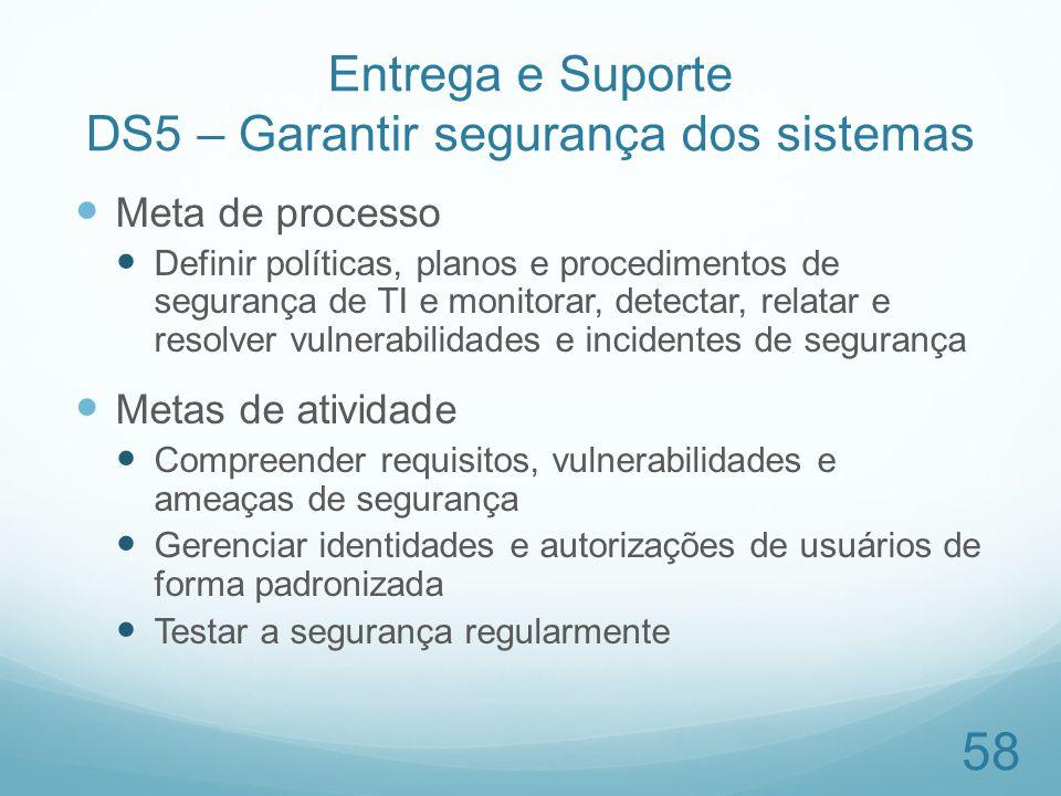 Entrega e Suporte DS5 – Garantir segurança dos sistemas