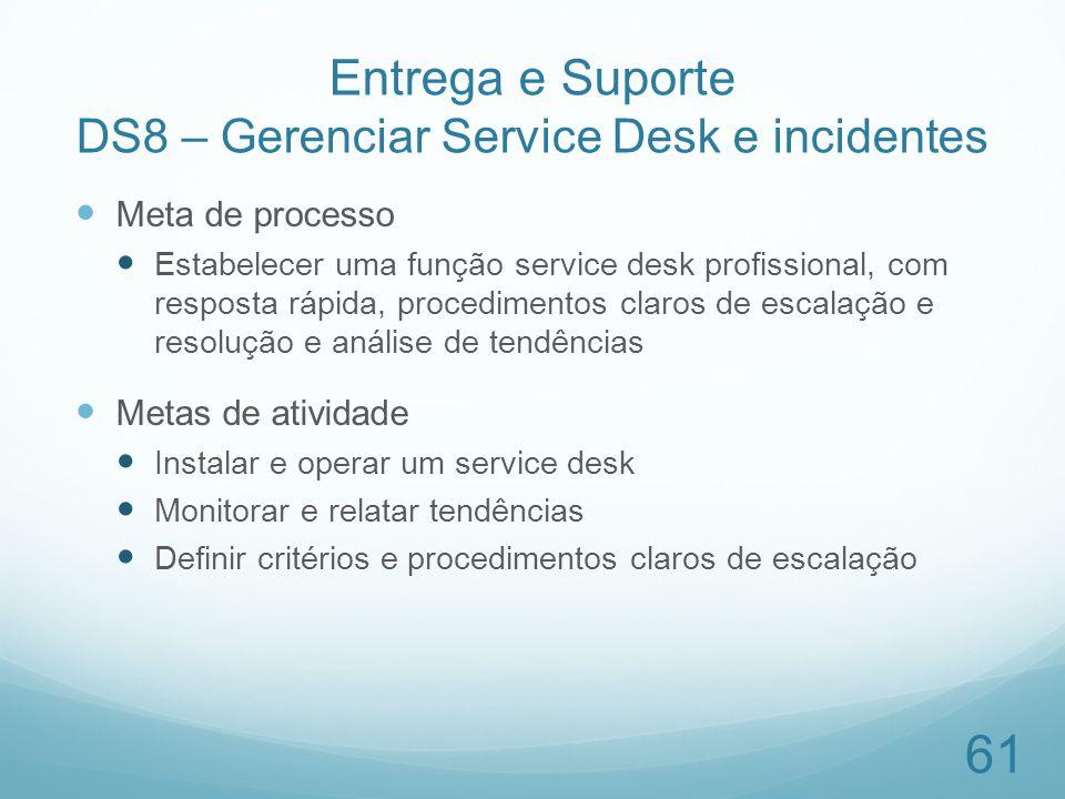 Entrega e Suporte DS8 – Gerenciar Service Desk e incidentes