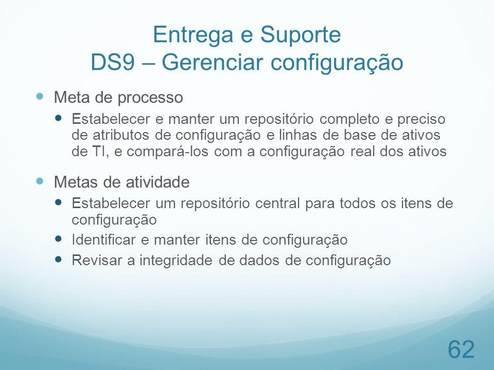 Entrega e Suporte DS9 – Gerenciar configuração