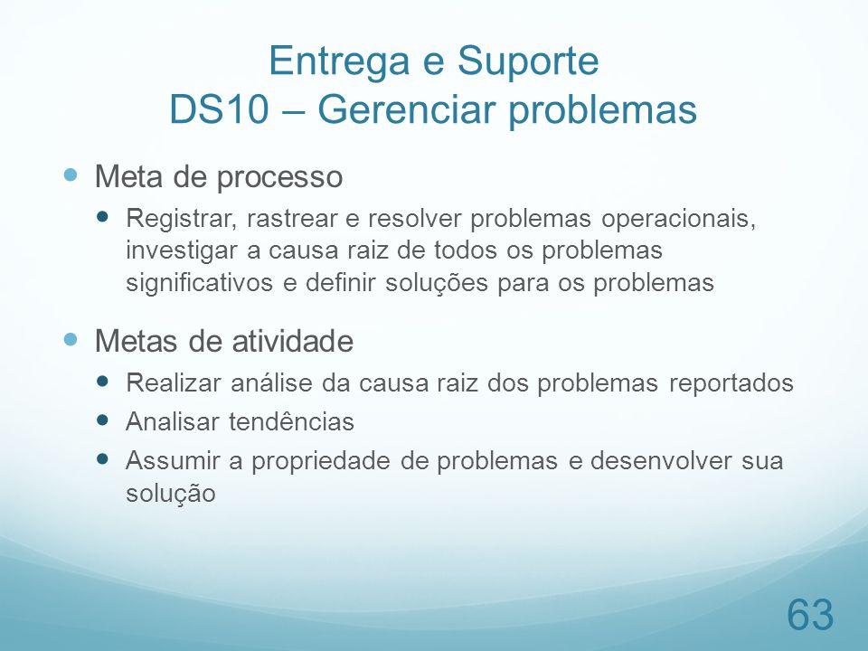 Entrega e Suporte DS10 – Gerenciar problemas