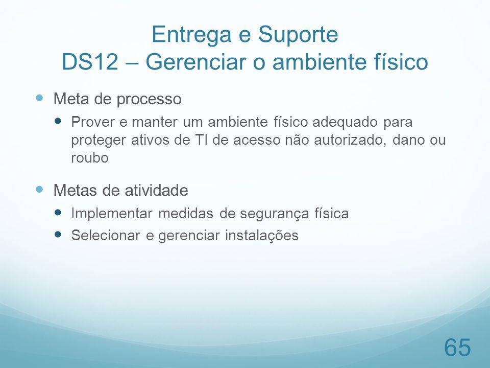 Entrega e Suporte DS12 – Gerenciar o ambiente físico