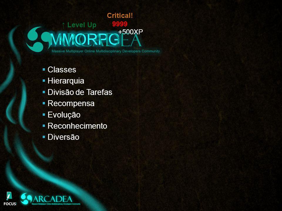 MMORPG Classes Hierarquia Divisão de Tarefas Recompensa Evolução