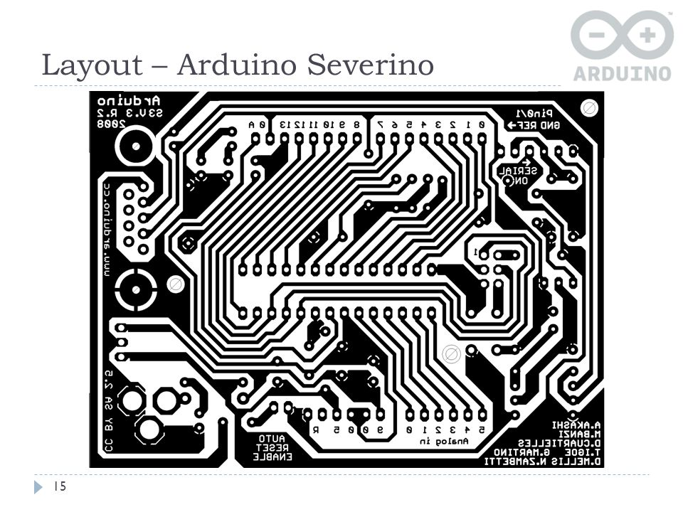 Layout – Arduino Severino