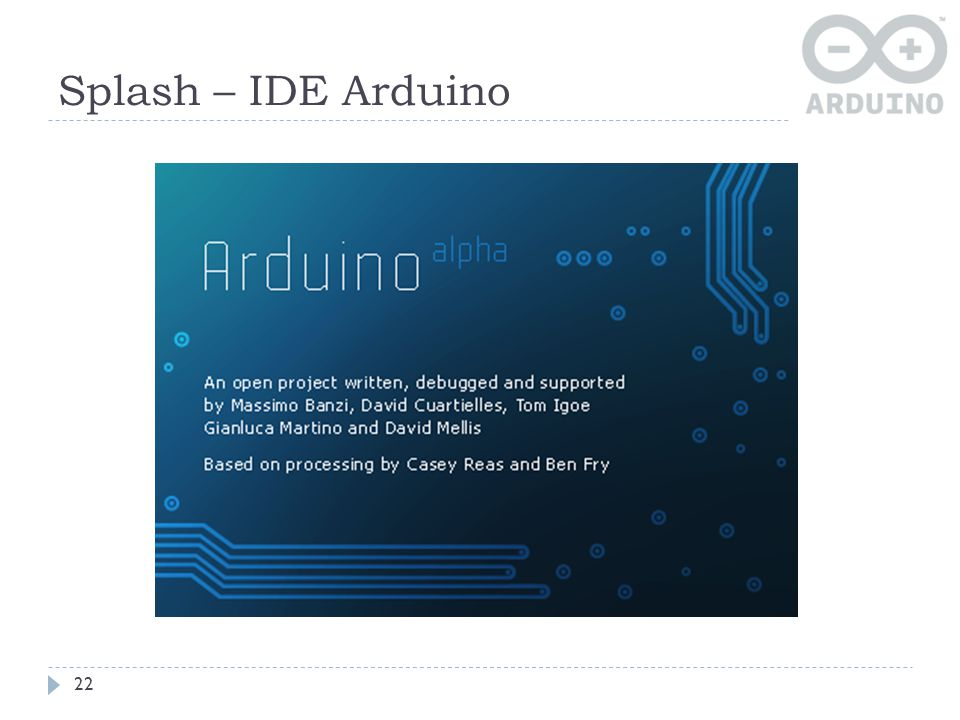 Splash – IDE Arduino