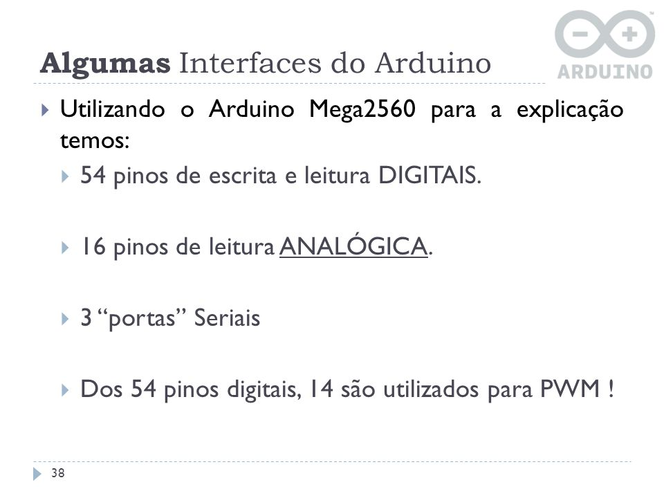 Algumas Interfaces do Arduino