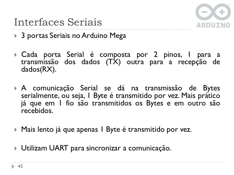Interfaces Seriais 3 portas Seriais no Arduino Mega