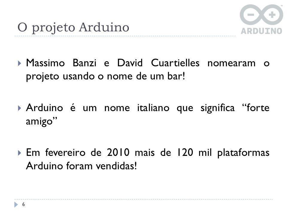 O projeto Arduino Massimo Banzi e David Cuartielles nomearam o projeto usando o nome de um bar!