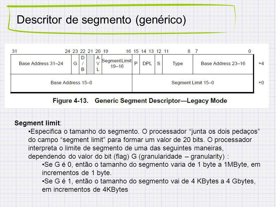 Descritor de segmento (genérico)
