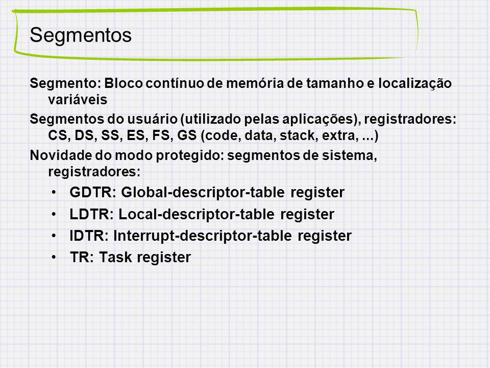 Segmentos GDTR: Global-descriptor-table register