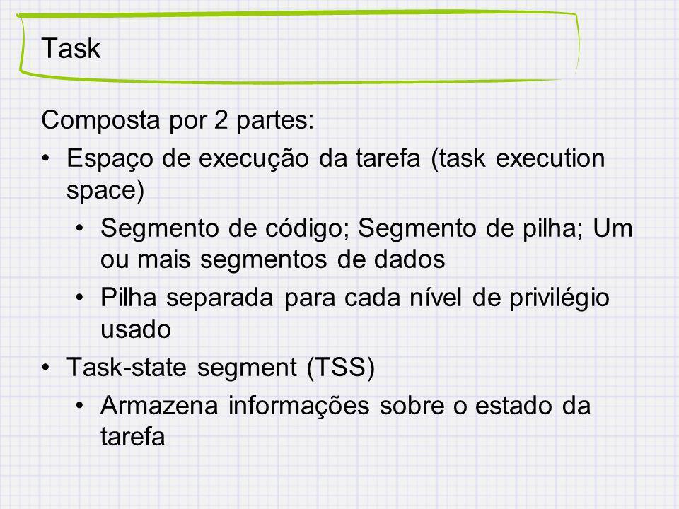 Task Composta por 2 partes: