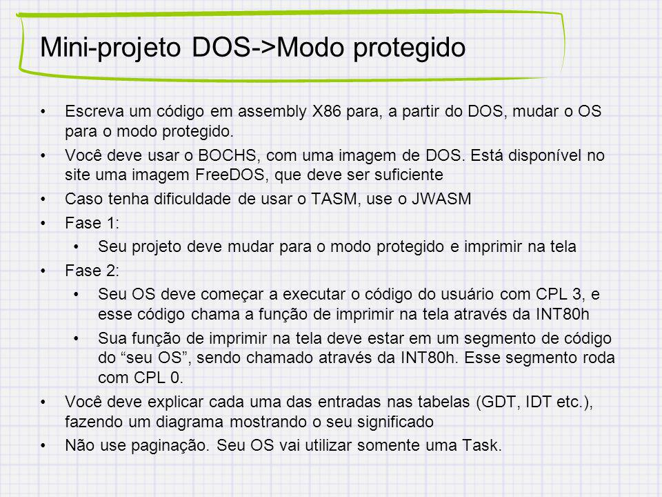 Mini-projeto DOS->Modo protegido