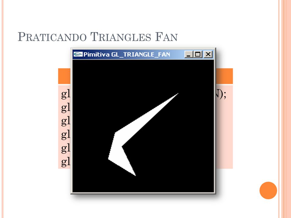 Praticando Triangles Fan