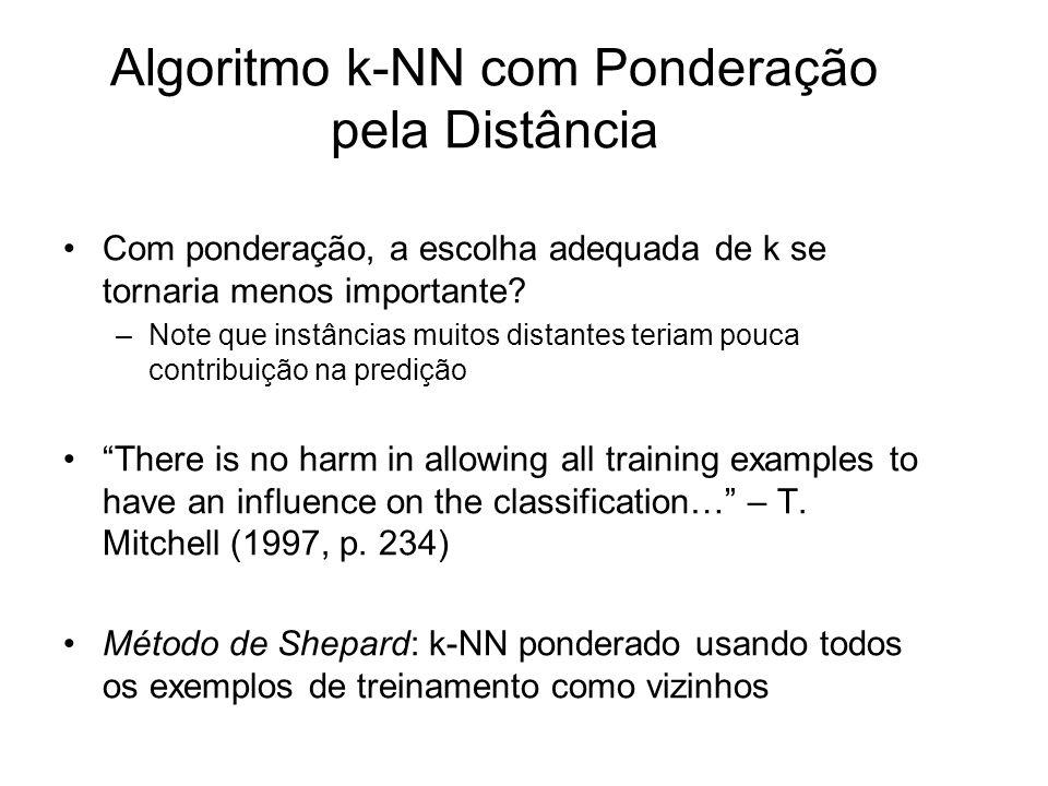 Algoritmo k-NN com Ponderação pela Distância