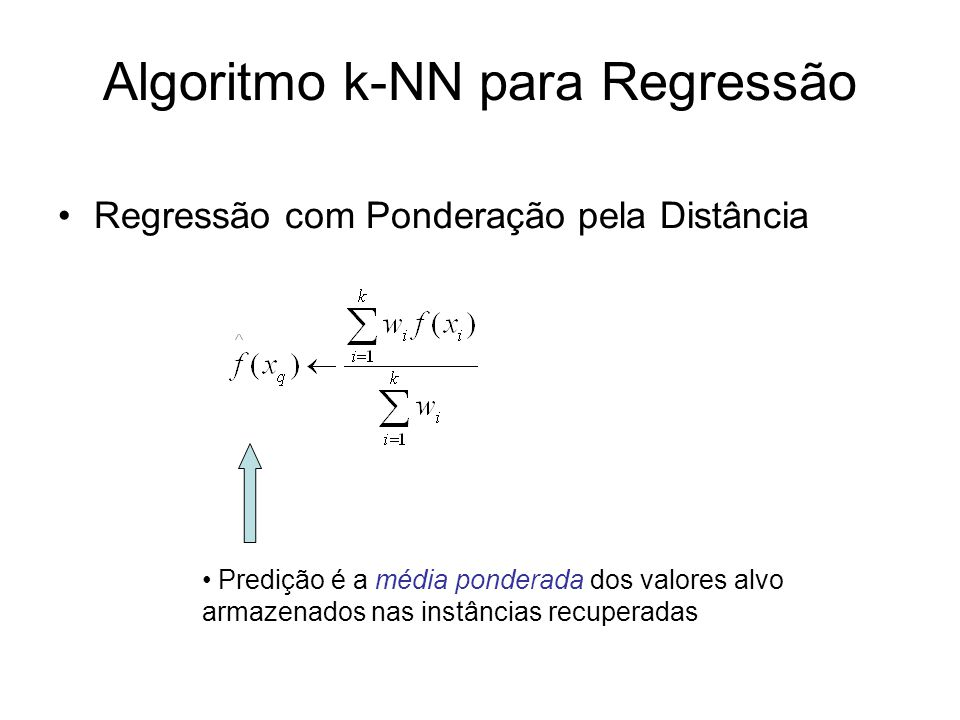 Algoritmo k-NN para Regressão