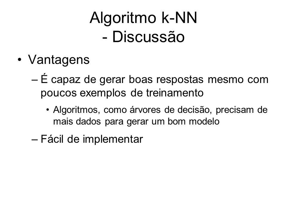 Algoritmo k-NN - Discussão