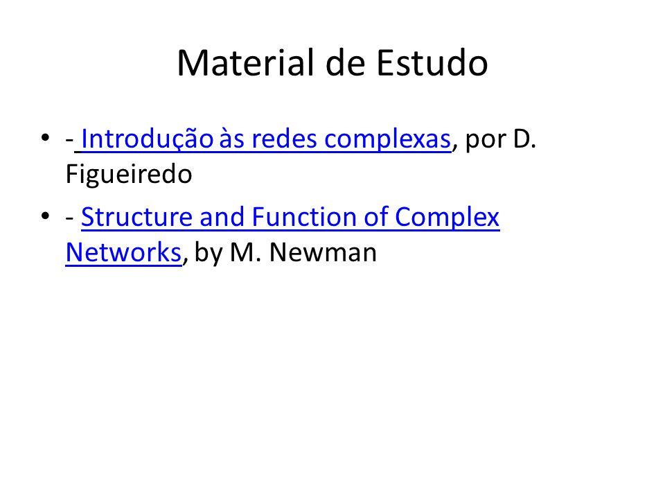 Material de Estudo - Introdução às redes complexas, por D. Figueiredo