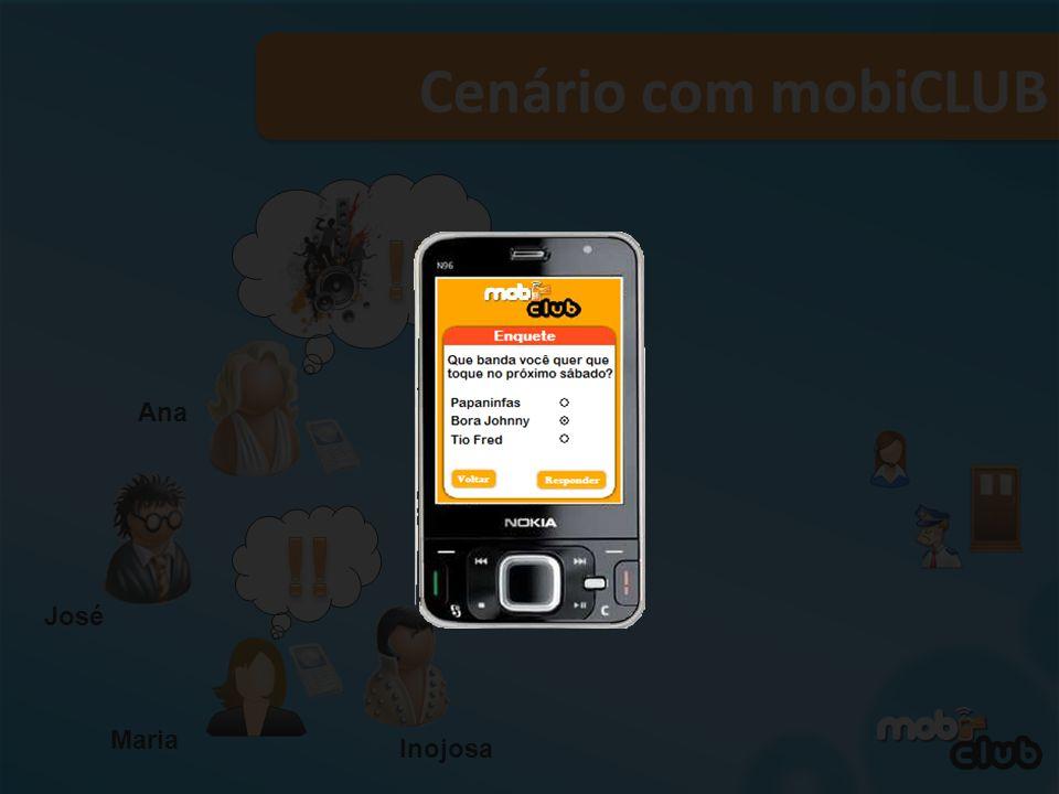 Cenário com mobiCLUB !!! !! Ana !! Tavinho José Maria Inojosa