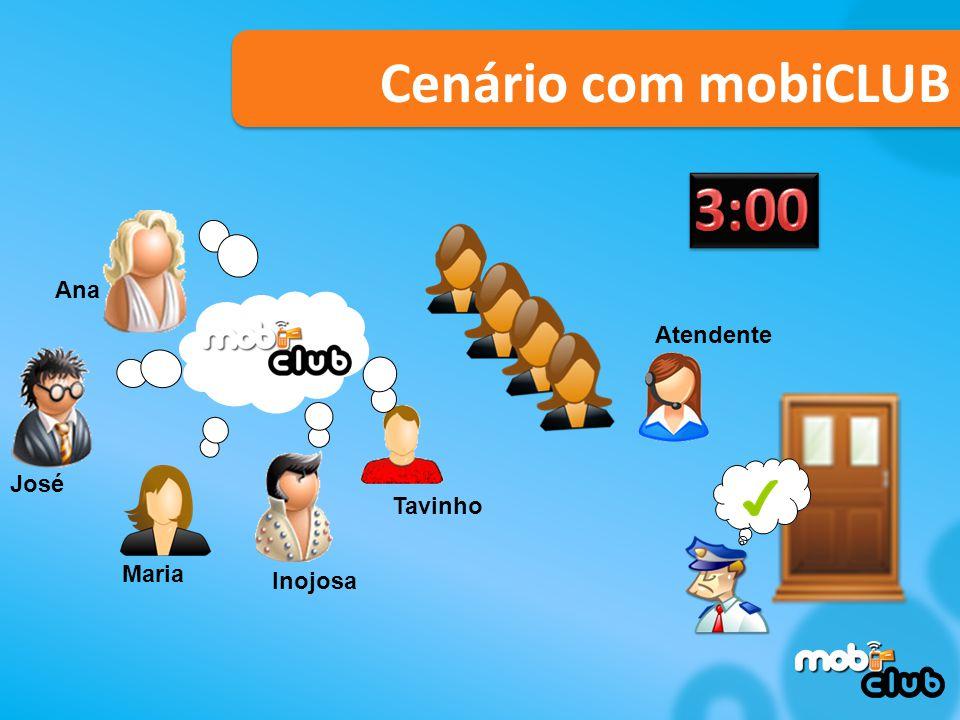 3:00 Cenário com mobiCLUB Ana Atendente José Tavinho Maria Inojosa