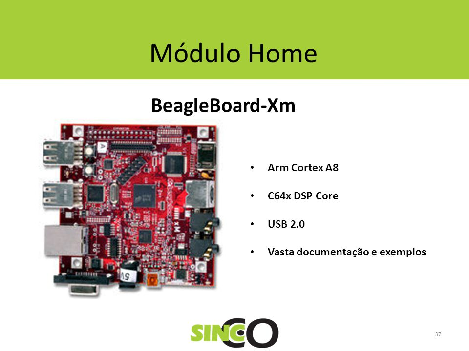 Módulo Home BeagleBoard-Xm Arm Cortex A8 C64x DSP Core USB 2.0